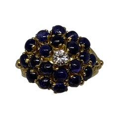 Ladies Cabochon Sapphire Fashion Ring in 18 Karat Yellow Gold