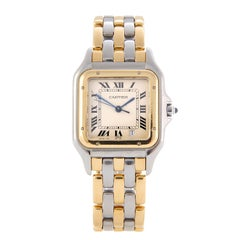 Ladies Cartier 3-Row Panthere Panther 2-Tone Steel and Gold Watch