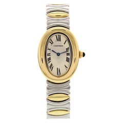 Ladies Cartier Baignoire 18 Karat Yellow Gold and SS 3485