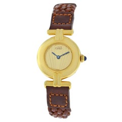 Ladies Cartier Colisee Vermeil Paris Gold-Plated Silver Quartz Watch