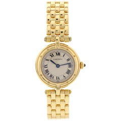 Ladies Cartier Cougar 18 Karat Yellow Gold Watch
