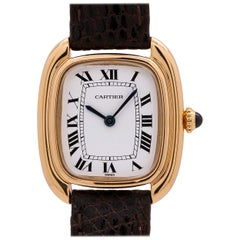Ladies Cartier Gondola 18 Karat Yellow Gold Manual Wind, circa 1970s