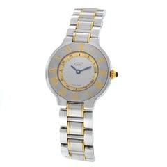Ladies Cartier Must de Cartier 1340 Quartz Steel Gold Watch