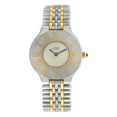 Ladies Cartier Must de Cartier 21 Steel Gold Bullet Quartz Watch