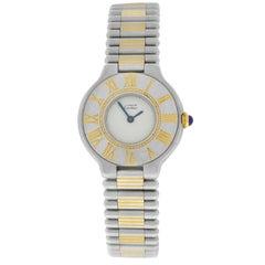 Ladies Cartier Must de Cartier Bullet Bracelet Quartz Steel Gold Watch