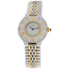 Ladies Cartier Must de Cartier Bullet Quartz Steel Gold Watch