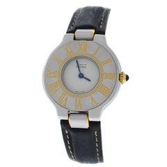 Ladies Cartier Must de Cartier Quartz Steel Gold Watch