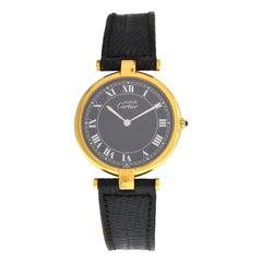 Ladies Cartier Must de Cartier Silver Gold Plaque Quartz Watch