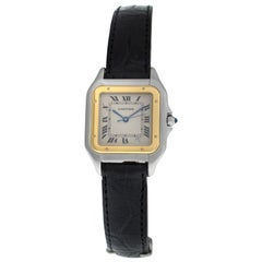 Ladies Cartier Panthere 1100 Stainless Steel Gold Quartz Watch