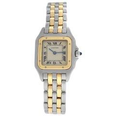 Ladies Cartier Panthere 166921 Steel 18 Karat Yellow Gold Two-Row Quartz Watch