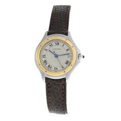 Ladies Cartier Panthere 187906 Steel Gold Date Quartz Watch