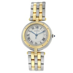 Ladies Cartier Panthere Cougar Two-Row Steel 18 Karat Gold Quartz Date Watch