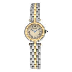 Ladies Cartier Panthere Vendome 1057920 One-Row Gold Steel Quartz Watch