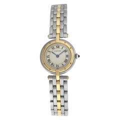 Ladies Cartier Panthere Vendome 1057920C One-Row Gold Steel Quartz Watch