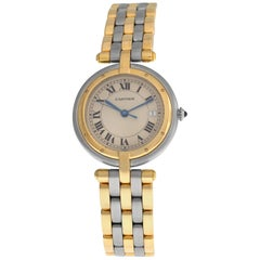 Ladies Cartier Panthere Vendome 183964 Three-Row Gold Steel Quartz Watch