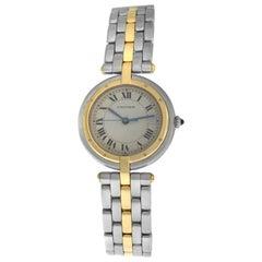 Ladies Cartier Panthere Vendome 183964 Two-Row Gold Steel Quartz Watch