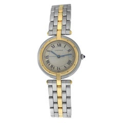 Ladies Cartier Panthere Vendome One-Row Gold Steel Quartz Watch