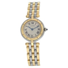 Ladies Cartier Panthere Vendome Three-Row Gold Steel Quartz Watch