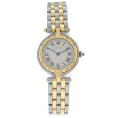 Ladies Cartier Panthere Vendome Two-Row Gold Steel Quartz Watch
