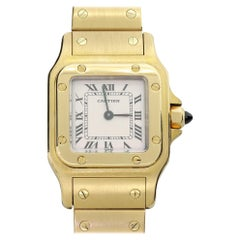 Ladies Cartier Santos 18K 750 Solid Gold Watch W Papers and Box 1569 One Owner