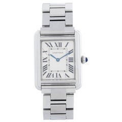 Ladies Cartier Tank Solo Stainless Steel Watch W5200013 3170