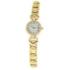 Ladies Cartier Vendome Quartz 18 Karat Yellow Gold Diamond Watch