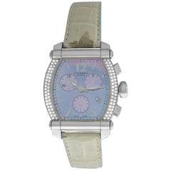 Ladies Charriol Columbus Colvmbvs 060T Chrono Diamond Mother of Pearl Watch