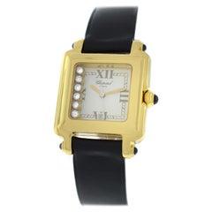Ladies Chopard Happy Sport 27/6627-23 Floating Diamonds 18K Gold Quartz Watch