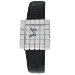Ladies Chopard Ice Cube by De Grisogono Quartz 18 Karat White Gold Watch