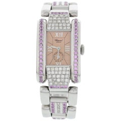 Ladies Chopard La Strada Stainless Steel and Diamond Watch 8357