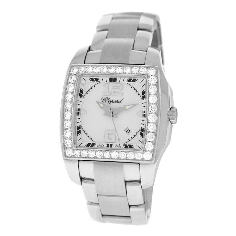 e9750f28a7b05 Ladies Chopard Two O Ten 18 Karat Gold and Steel 1.87 Carat Diamonds Watch  For Sale