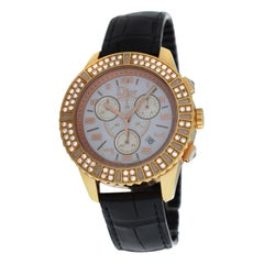 Ladies Christian Dior Christal CD114370 18 Karat Solid Gold Diamond Watch