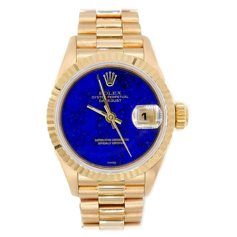 "Ladies Date Just ""President"" with Original Lapis Dial For Sale"