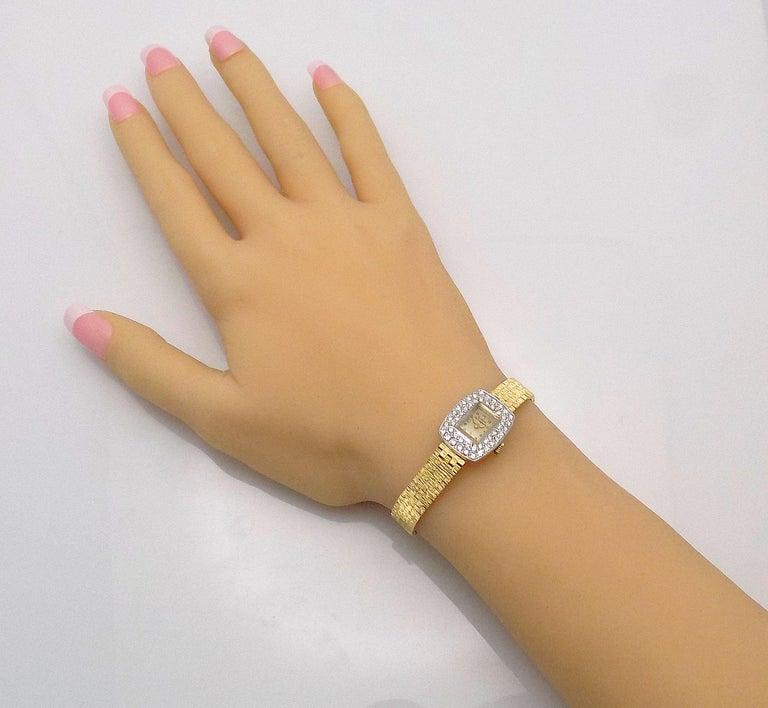 Ladies Diamond Girard Perregaux Wristwatch In Good Condition For Sale In Dallas, TX