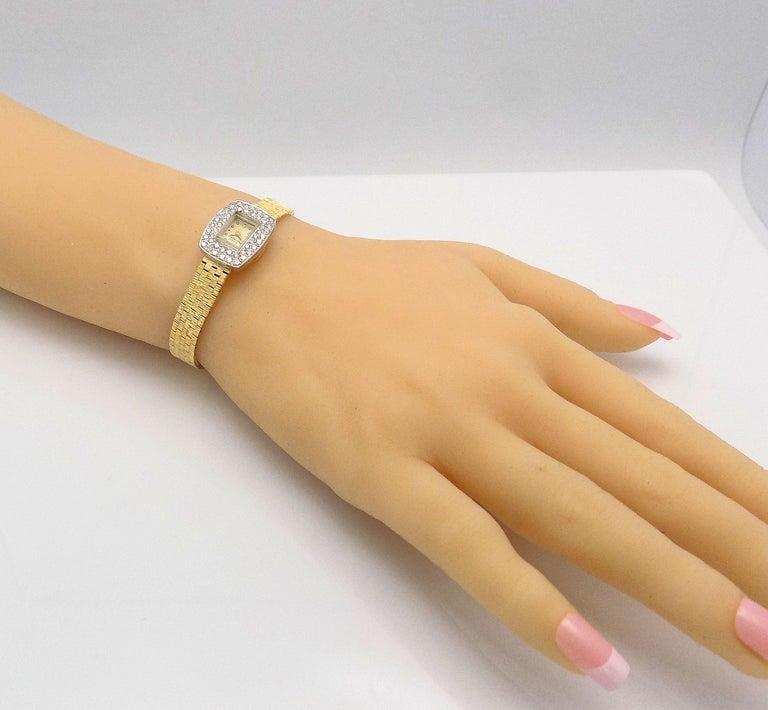 Women's Ladies Diamond Girard Perregaux Wristwatch For Sale