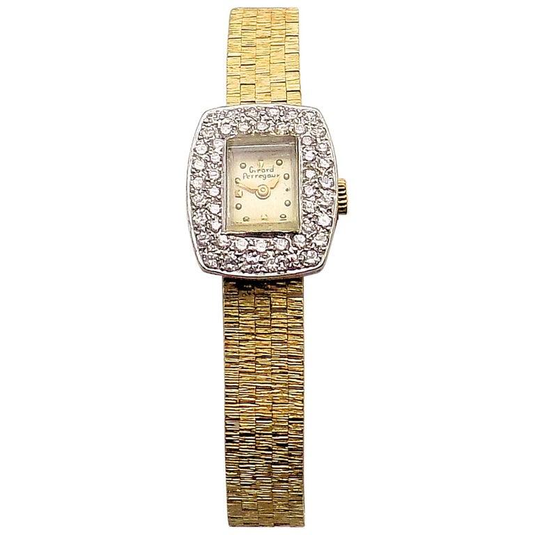 Ladies Diamond Girard Perregaux Wristwatch For Sale
