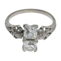 Ladies Diamond Ring in White Gold
