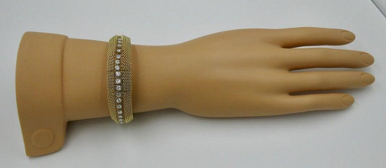 Ladies Diamond Yellow Gold Wristwatch Bracelet Mid-Century Modern Madmen, 1960s For Sale 4
