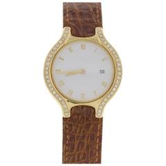 Ladies Ebel Beluga 18 Karat Yellow Gold Watch 2059
