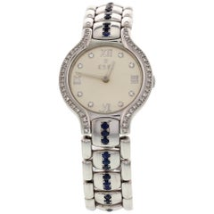 Ladies Ebel Beluga Stainless Steel with Diamonds and Sapphires E9157421