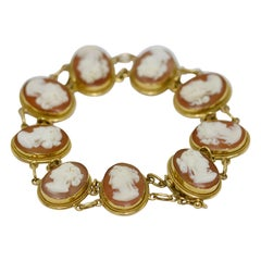 Ladies Gem, Cameo Bracelet, 18 Karat Gold