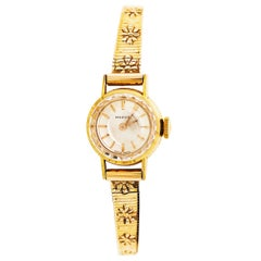 Ladies Gold Watch-Marvin Brand with 14 Karat Gold Case and Band, circa 1955