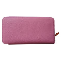 "Ladies Hermes ""Silk-In Classiuqe"" Long Wallet in Rose Confetti Epsom Leather"