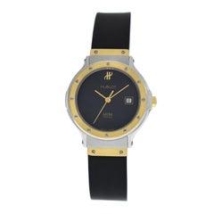 Ladies Hublot MDM Geneve Classic 1390.2 Steel 18 Karat Gold Quartz Date Watch