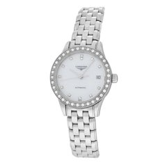 Ladies Longines Flagship L42740876 Steel Watch Diamond Mother of Pearl Automatic
