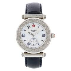 Ladies Michele Caber Diamond Bezel Stainless Steel MW16A01A2025 Watch