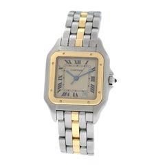 Ladies Midsize Cartier Panthere 187949 Quartz 18 Karat Gold One Row Date Watch