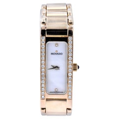 Ladies Movado 14 Karat Yellow Gold Diamond Wristwatch Ref. 71 H5 1432