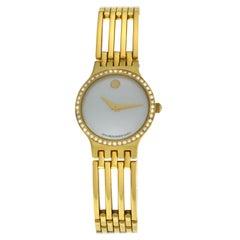 Ladies Movado Esperanza 84.25.811.ISP Steel Gold Diamond Quartz Watch