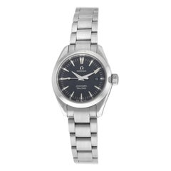 Ladies Omega Aqua Terra 2577.50 Stainless Steel Quartz Date Watch